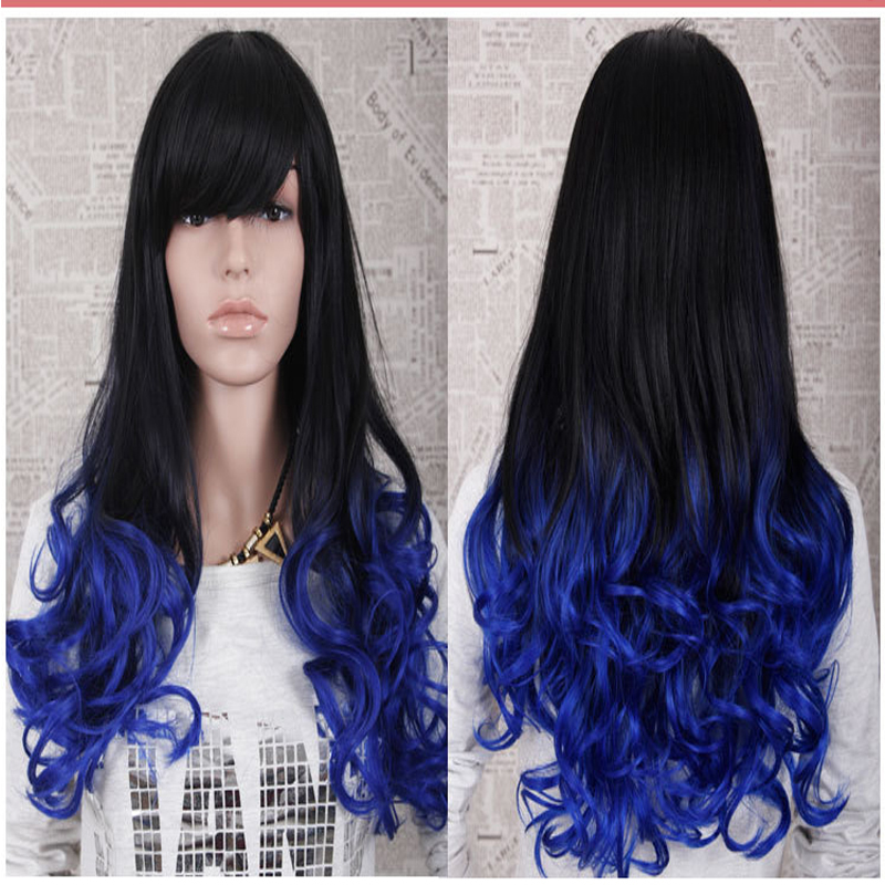 FashionOmbre Body Wave blonde synthetic lace front wig black to blonde two tone synthetic lace front wig heat resistant forwomen<br><br>Aliexpress