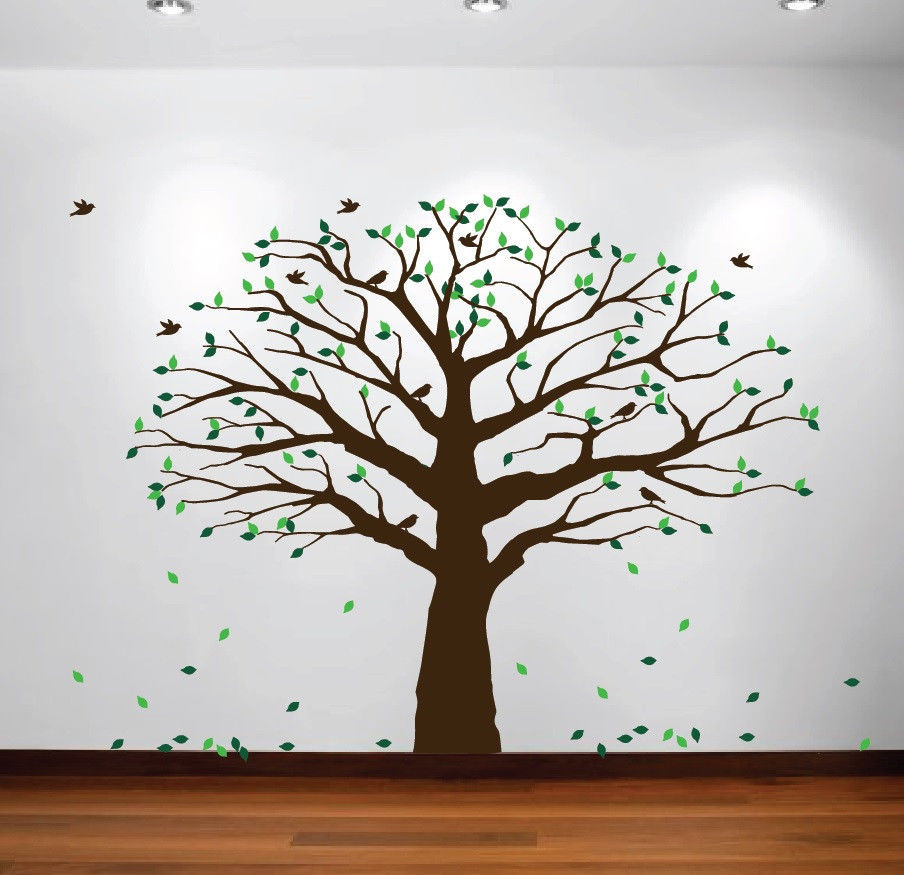 Por Large Family Tree Wall Decals ...