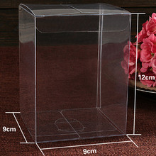 "20Pcs/Lot 9*9*12cm 3.54""x3.54""x4.72"" Candy Gift DIY Soap Poly Packaging Boxes Clear Plastic Event PVC Box For Flower Tree Crafts(China)"