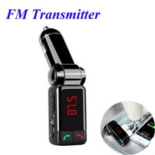 Big Promotion Car mp3 Bluetooth Car Bluetooth FM transmitter car cigarette lighter USB charging Samsung iphone Free Shipping(China)