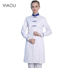 Viaoli Medical Uniforms Nursing Scrubs Clothes for Beauty Shop Short Sleeve Doctor Clothing Hospital Women Work Dress(China)