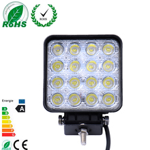 1Pcs Worklight 16*3W LED 48W 6000K Truck Car Led Working/Driving Light Fog Lamp Bulb for Jeep SUV ATV Waterproof IP 67 DC12-24V(China)