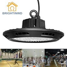 BRIGHTINWD 100-265V UFO Linear Led High Bay 100W 150W 200W High Power Led Reflector SMD3030 Industrial Led Lamp For Factory