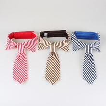Fashion Gentleman Pet Big Dog Cat Strip Necktie Adjustable Bow Tie Costume Supplies