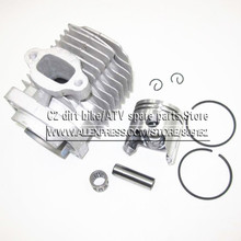 44-6 Engine Cylinder Head With Piston kit for 2 stroke 49cc Mini Dirt bike Mini ATV Quad Pocket bike Piston Ring