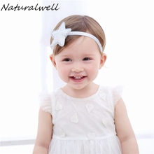 Naturalwell Children girls Silver Star Headband Newborn Hairdbands Gold Star Hair accessories Star Halo photo shoots HB047D(China)