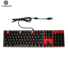 USB Wired Aluminum Alloy Panel 104 Keys Mechanical Keyboard Blue Switch Gaming Computer PC Klavye with Backlight Gamer Teclado(China)