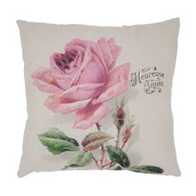 1pcs Vintage Cotton Linen Pillow Case Cover Living Room Bed Chair Seat Waist Throw Cushion Rose Flowers Pillowcases for Home