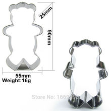 Direct Selling,Little Teddy Bear Shape Cake Decorating Fondant Cutters Tools,Cartoon Animal Cake Cookie Biscuit Baking Molds