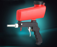 Gravity Feed Hopper pneumatic air sand blasting Gun, sandblaster Rust Cleaning removal tools air sand blaster(China)