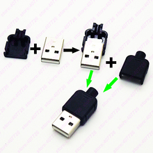 Buy High 10PCS DIY USB Type Male Connector Assembly Adapter USB Jack 2.0 Plug Socket Plastic Shell Tail Wire Dia 3.0 for $1.99 in AliExpress store