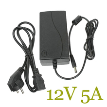 New AC Converter Adapter 110-240V For DC 12V 5A 60W LED Power Supply Charger CCTV Camera DVR Power Adapter