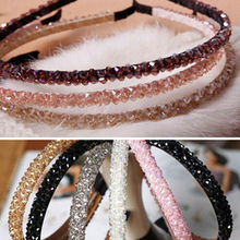 Prevalent Shining Crystal Fashional Modern Style Headband Hairbands for Girls Headwear Hair Accessories for Women Free Shipping