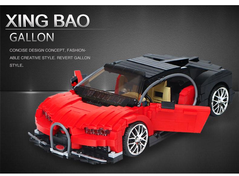 XingBao XB-03009 Bugatti Gallon Building Block 25