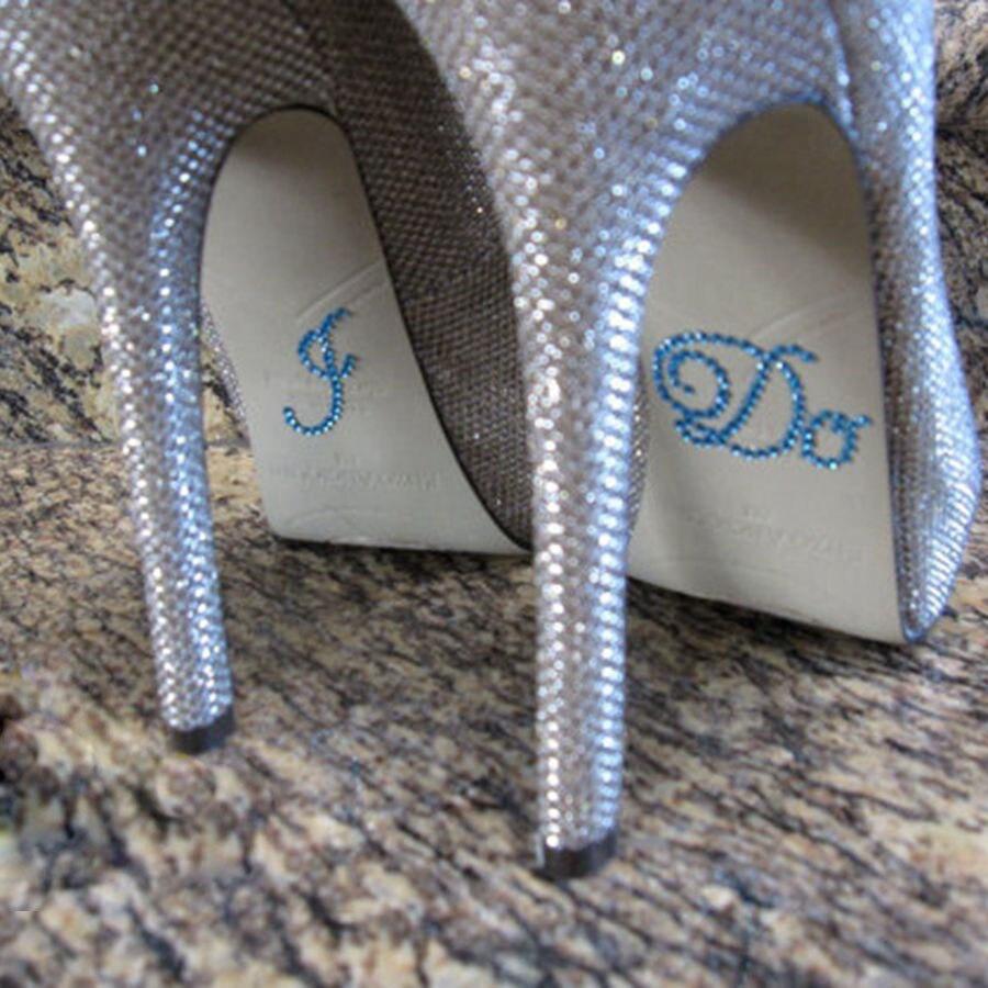 Something Blue I Do Rhinestone Stickers for Bridal Shoes Designed for Wedding Bride Shoes