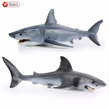 Wiben Sea Life Blue shark Great White Shark Simulation Animal Model Action & Toy Figures Educational Collection Gift for Kids(China)