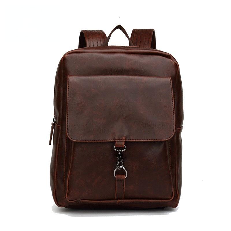 2018 Sale Mochilas Leather Backpack High Quality Youth Travel Rucksack School Book Bag Male Laptop Bagpack Mochila Shoulder <br>