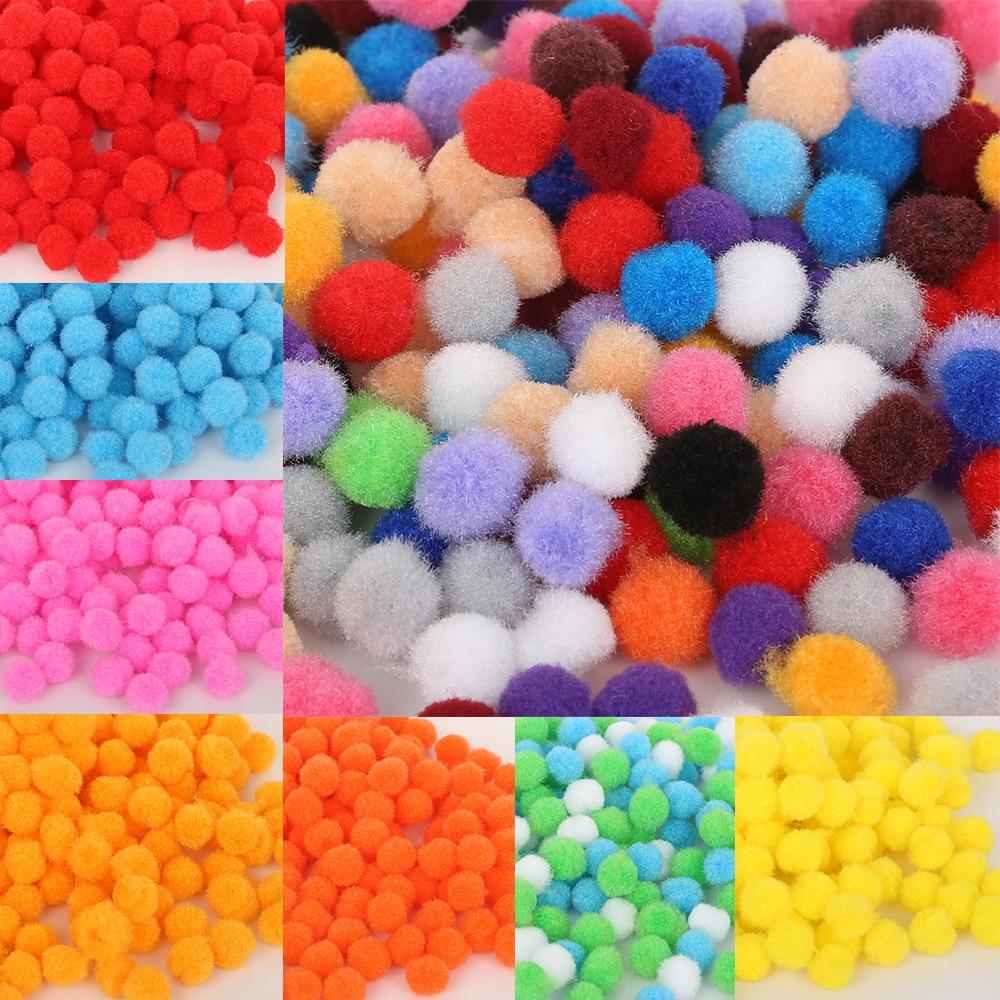 DIY 500PCS Fluffy Craft PomPoms Balls Mixed Colours Pom Poms About 15mm  Diamet