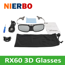 Active Shutter 3D Glasses Projector 3D TV Glasses for 3D Cinema Beamer Theater with  ABS PC Material
