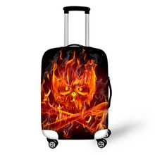 Prevent the impact to prevent scratches Strange Avatar Mysterious pattern luggage case travel must be soft and durable non-slip