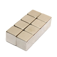 2015 New High Quality 1pcs Rare Earth Magnet 10x10x10mm Cube Block N50 Neodymium Super Strong Fridge