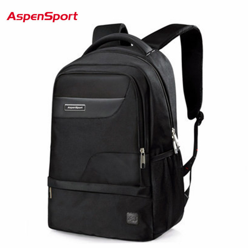 AspenSport Waterproof Nylon Backpack Laptop Bag Fit 15.6 Inch MenS Travel Bags Backpacks Capacity Black Backpack Women Backpack<br>