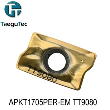 APKT1705PER-EM TT9080,Genuine Original  TaeguTec CNC insert use Large Medium Small mini lathe tools by turning tool holder
