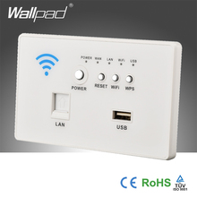 Hot AU US 118 Standard White USB Socket Wall Embedded Wireless AP Router Phone Wall Charger,WIFI USB Charging Socket Panel