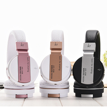 4 IN 1 FM AUX TF Bluetooth headset Wireless Headphone Stereo Earphone PU Leather Auriculares For IPOD IPAD Cellphones Computer