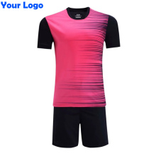 Team Logo Customized Sports Football Soccer Jerseys + Pants Suit Set Men Kits 16/17 Adult Size Short Sleeve Blank Uniforms
