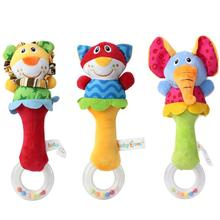 Baby Developmental Toy New Lovely Soft Hand bells Animal Model Long Handbell hand puppet toys for children #XTT(China)