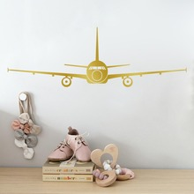 Large Airplane Wall Stickers 3D Muraux Home Decor Aircraft Art Decal Decoration Kids Room Stickers Removable Wallpaper(China)