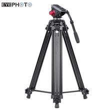 Andoer Professional Aluminum Video Camera Tripod Panorama Fluid Hydraulic Head Ballhead Camera Stand for Canon Nikon Sony DSLR