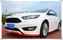 Ho Black Red Blue Car-Styling Front bumper lip Side Car Stickers For Ford focus 2 3 Fiesta C-Max KA GALAXY Kuga Accessories(China)