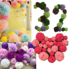 "10pcs/set 6"" 15cm Tissue paper pompoms pom pom balls Wedding decoration baby shower party supplies Hanging decoration"