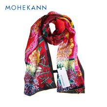 Mohekann Fashion Scarves & Wraps 100% Natural Silk Long Large Scarf Women Luxurious Touch Neckerchief High Quality