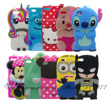 Phone case For Huawei Ascend P8 lite case 3D Hello Kitty Stitch Yellow Man Rabbit Bunny For Huawei P8lite Silicone Case