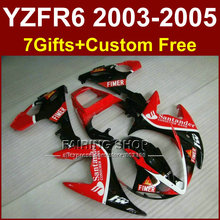 DR4 Body repair parts for YAMAHA R6 fairing kit 03 04 05 red sika fairings YZF R6 2003 2004 2005 Motorcycle sets EJ7U