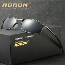AORON Brand Designer Original Sunglasses Men Polarized Goggles Police Sun Glasses HD Driving Mirror Glasses oculos Gafas De Sol