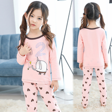Cartoon Print Girls Pajamas Sets Cotton Children Clothes Spring Fall Little Girls Sleepwear Pajamas Kids Girls Pyjamas Nightwear(China)