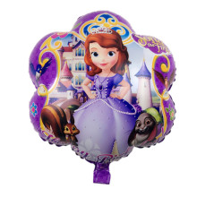 Free Shipping New plum-shaped aluminum balloons princess children's toys birthday party balloons