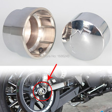 Chrome Metal Rear Axle Bolt/Nut Cap Cover Kit Fits For 2008-2015 Harley Softail Sportster XL883 XL1200 Fatboy Custom