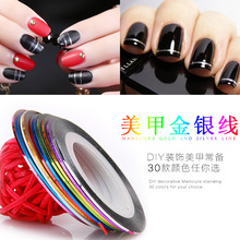 20Pcs/lot Mixed Colors Nail Rolls Striping Tape Line DIY Nail Art Decorations Sticker for Nails Nail Stickers(China)
