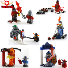 New Nexus Knights Future Knight Castle Warrior CLAY LANCE AXL MACY ARRON Building Block mini Toy Bricks Kid Gifts