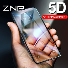 Buy ZNP 5D Curved Full Cover Protective Tempered Glass iPhone X 10 0.3mm 5D Screen Protector Film iphone X 10 Tempered Glass for $3.28 in AliExpress store