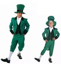 free pp Adult Children Funny St Patricks Lucky Irish Leprechaun Mens Fancy Dress Costume Outfit(China)