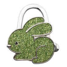 New Arrival Handbag Hook Rabbit Shaped Ladies Purse Tote Bag Holder Table Support Hanger Alloy Hook Home Supplies(China)