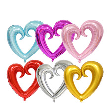 18inch Love Flower Hollow Heart Shape Foil Balloons valentine's day Gift Wedding Birthday Party Celebration Decoration Balloon