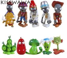 KISSWAWA Hot Classic Toys Plants Vs Zombies Game Play 2 Hot Toys Action Figure toys For Children christmas Gift 10 pcs/set