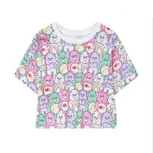 2017 New Fashion Women T Shirts Teddy Bear/Pony Print T-Shirts Tops Short Sleeve Female Harajuku Tee Shirt Tops Summer Style(China)